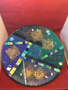 Super Rare Roger Thomas No. 15592 Signed Art Glass Abstract 19 Charger Plate