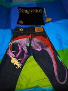 Yoropiko - Multi Colour Hungry Dragon Jeans Size 30w - Rrp Andpound499