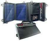 Schumacher Sp-100 10w Foldable Solar Panel Charger Camping Hiking Smartphones