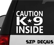 Police Sticker K 9 Unit Caution Detective Warning Back The Blue Cops Usa