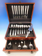 Silver Flutes By Towle Sterling Silver Flatware Set For 8 Service 47 Pcs Dinner
