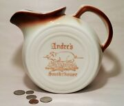 And03950s Andreand039s Smokehouse Vtg Van Nuys California Pottery Pitcher Sign Tepco China