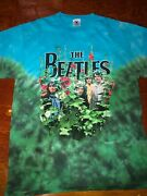 Vintage 1990's Awesome Beatles Garden 2-sided Tie-dye Print, Size Large
