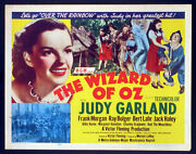 The Wizard Of Oz Judy Garland R-1955 Half Sheet Movie Poster Rolled