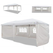 Goutime 10x20 Feet Easy Pop Up Canopy Instant Tent Shelter With 4pcs 10ft Rem...