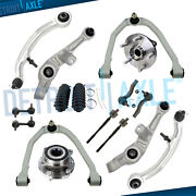 16pc Front Control Arm Wheel Hub Bearings Kit For 2003-2008 2009 Nissan 350z Rwd