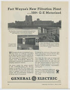 1934 General Electric Advertisement Fort Wayne Indiana Three Rivers Filtration