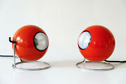Set Of Two Mid Century Modern Eye Table Lamps By Erco Leuchten,1960s Germany