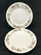Set Of 2 Antique Creative Fine China 2345 Regency Rose 9-1/2 Luncheon Plates