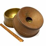 Antique Brass-lined Copper Feed Bowls And Funnel For Dogs / Animals Unusual