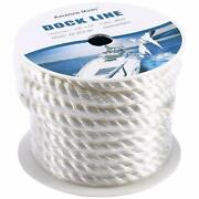 5/8 Inch 50 Ft Twisted Nylon Anchor Dock Line Boat Marine Mooring Rope 3 Strand