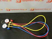 Jb Just Better Test And Charging Manifold 60 M2-5-410a-ss-bulk Gauges Hoses New.