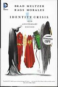 Identity Crisis 10th Anniversary Edition Hardcover Signed By Brad Meltzer