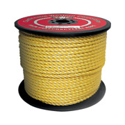 Cwc 3-strand Polypropylene Rope - 5/8 X 600and039 Yellow Split Film