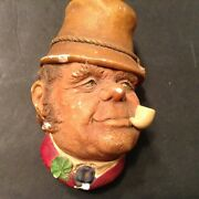Vintage 1969 Hand Painted Chalkware Faces By Bossons Made In England Paddy