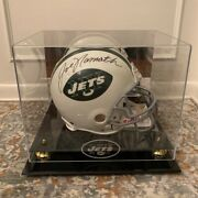 Joe Namath Signed New York Jets Helmet With Autograph Authentication And Photo