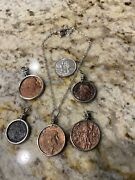 Larger Ancient Roman Coin Necklace Pendant Jewelry / Genuine Ancient Roman Coins