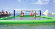 105m Outdoor Inflatable Volleyball Court For Water//beach Game With Air Pump B