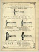 1894 Paper Ad D Maydole Solid Cast Steel Hammer Simmonand039s True Blue