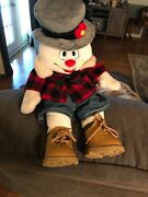 Large 18 Frosty The Snowman Babw Build A Bear Workshop Stuffed Chistmas Plush
