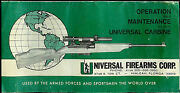 Universal Carbine Rifle Orig Ownerand039s Manual Parts List Take Down Instructions