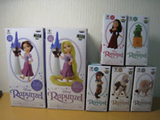 Disney Characters World Collectable Rapunzel Tower Story02 Lot Of 7 Figure + Box