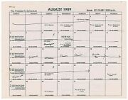 Ronald Reaganand039s Owned And Annotated Schedule - Following His Presidency 1989-1990