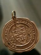 Vintage Seal Of The State Of Pennsylvania Warranted 14k Gold Plated Metal