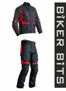 Rst Atlas Waterproof Blue/black/red Cheap Textile Motorcycle Jacket And Trousers