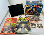 1967 Lite Brite With Many Sheets, Bag Of Pegs, Working In Good Cond Free Ship