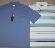 New Mens Lot Of 2 Golf Polo Shirts Short Sleeve Greg Norman, Bolle - Large