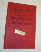 Original Ford Printing - Operatorand039s Manual For The 1947 Ford Truck - Owners Book