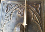 Armour De Bayard Antique French King Knight Spear Copper Engraving Medieval Art