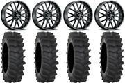 Itp Hurricane 20 Wheels Black 36 Xm310r Tires Kawasaki Mule Pro Fxt