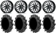 Itp Hurricane 20 Wheels Black 33 Motohavok Tires Rzr Xp 1000 / Pro Xp