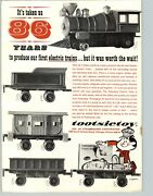 1964 Paper Ad Toy Tootsitoy Electric Train Set Strombecker