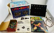 1967 Lite Brite With Sheets Refill, Box Of Pegs, Working In Good Cond Free Ship