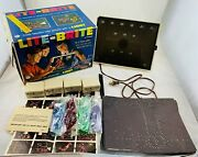 1967 Lite Brite With Original Sheets, Pegs, Working In Good Cond Free Ship