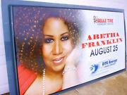 Aretha Franklin -2011 Concert Advertising Sign 8.2 ' W X 4.5 ' H