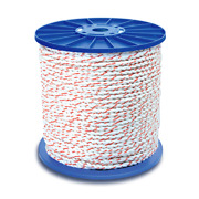 Cwc 3-strand Poly Dacron Rope - 1/2 X 600and039 White W/tracers