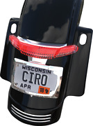 Ciro Taillight And License Plate Mounts 40051 Chrome