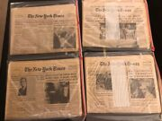 Space History Rare Complete Apollo 11 Newspapers-ny Times + Other Papers