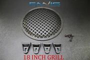 18 Inch Steel Speaker Sub Subwoofer Grill Mesh Cover W/ Clips Screws Gr-18 Lot