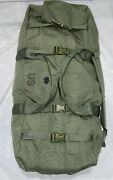 Genuine Us Military Zippered Army/navy Improved Duffel Bag 8465-01-604-6541/gc