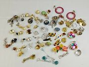 Vtg Assorted Lot Of 30+ Clip On Earrings Pearl Gold Rhinestones Costume Jewelry