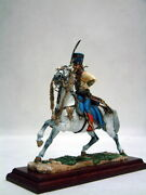 Painted Tin Toy Soldier Colonel Of The 5th Hussar Regiment On Horseback 120mm