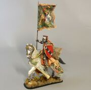 Painted Tin Toy Soldier Horseman Knight 26 54mm 1/32
