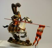 Painted Tin Toy Soldier Polish Winged Hussar 1 54mm 1/32