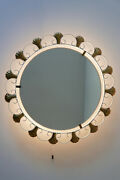 Mid Century Modern Backlit / Illuminated Wall Mirror By Hillebrand 1960s Germany