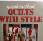 1996 Vintage Quick -method Quilts With Style A Leisure Arts Publ. Hardcover